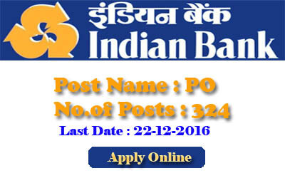 Indian Bank Probationary Officer Posts