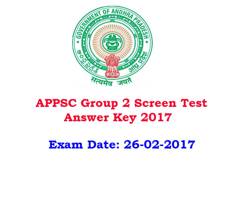 APPSC Group 2 answer key 2017