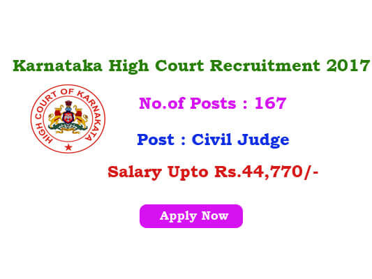 Karnataka High Court Jobs