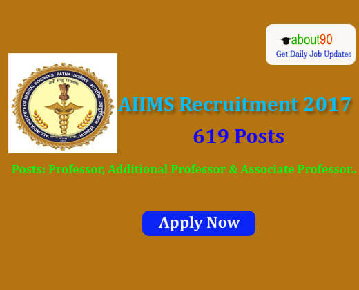 AIIMS Recruitment 2017 for 619 Posts Details