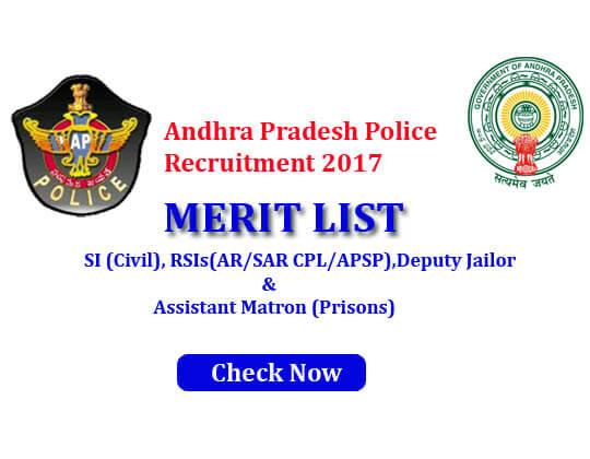 AP Police Civil merit list