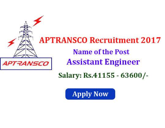 APTRANSCO recruitment 2017
