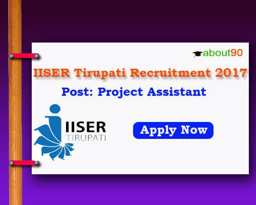 IISERT Recruitment 2017
