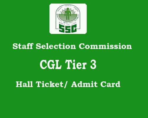 SSC Tier3 admit card