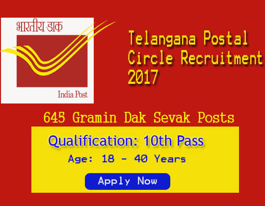 TS Postal Gramin Dak Sevak Recruitment 2019