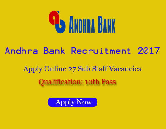 andhra bank notification 2017