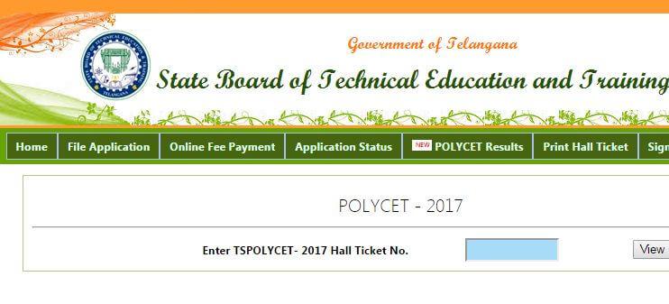 TS Polycet Result 2017