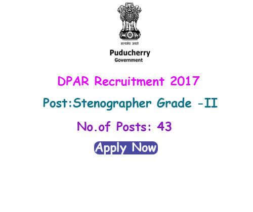 DPAR Recruitment 2017