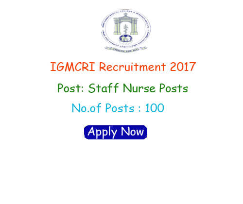 IGMCRI Recruitment