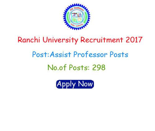 Ranchi University Recruitment
