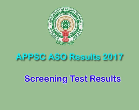 APPSC ASO Results 2017