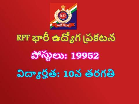 RPF Recruitment 2017