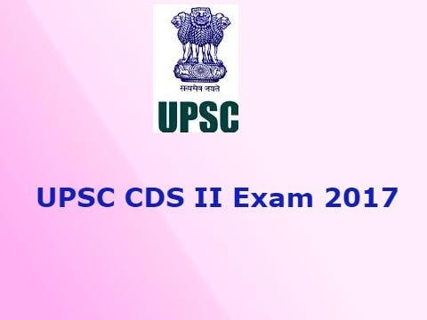 UPSC CDS 2 Recruitment 2017