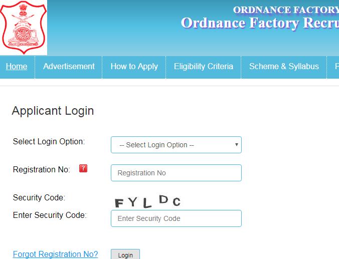 OFB Admit Card 2017