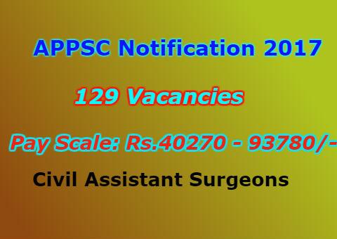 APPSC Civil Assistant Surgeons Recruitment 2017