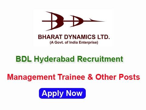 BDL Recruitment 2017