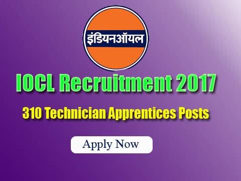 IOCL Recruitment Notification 2017