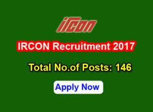 IRCON Recruitment 2017
