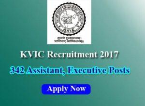 KVIC Recruitment 2017