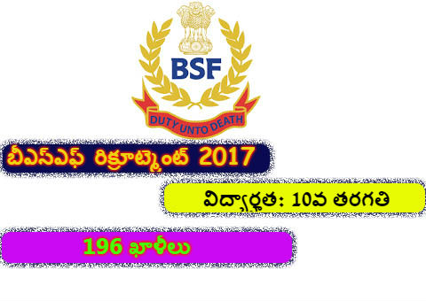 BSF Constable Recruitment 2017