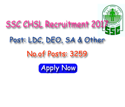 SSC CHSL Recruitment 2017
