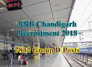 RRB Chandigarh Recruitment 2018