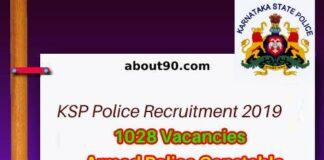 KSP Armed Police Jobs 2019