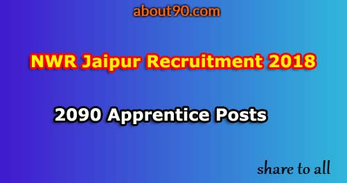 NWR Jaipur Recruitment 2018