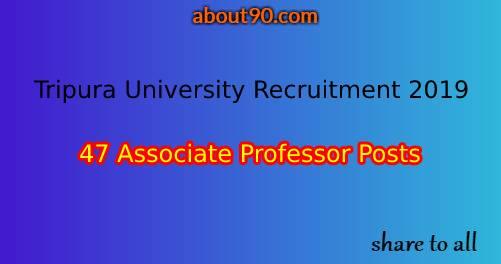 Tripura University Recruitment 2019