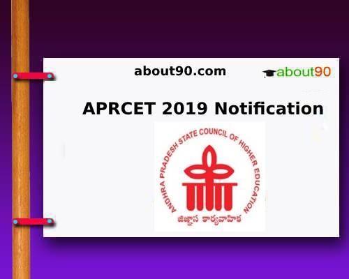 APRCET 2019 Notification