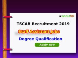 TSCAB Recruitment 2019