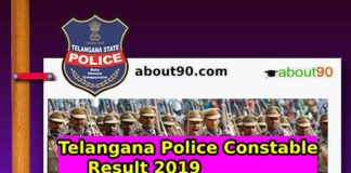 Telangana Police Constable Result 2019