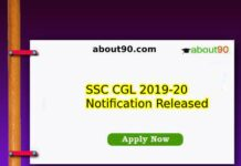 SSC CGL 2019-20 Notification